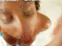 Proud of her big tits latina rubs dick between them and does blowjob