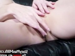 Horny sixty year old fingering pussy