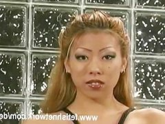 Lonely asian female slave