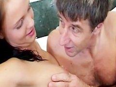 Rub a dub dub rub an old man in the tub by young girls