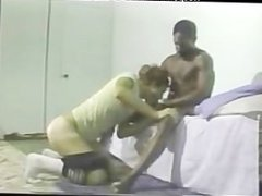 Vintage Interacial Spanking and Massage