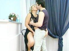 Mature with cigarette holder in sex scene