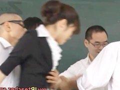 Maki Houjo Hot Asian teacher enjoys sex part6