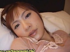 Beautiful rin gets load of cum all over part1