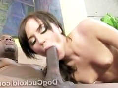 Perv has no chances when Kelly Klass is sucking a black dong