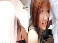 Hot asian redhead babe sucking cock part3