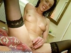 Horny brunette woman gets her cunt part4
