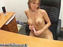 Dolled up mother gives excellent wank part6