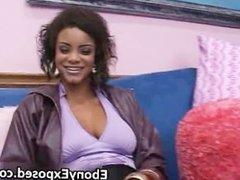 Big boobs black girlfriend sucking cock part2