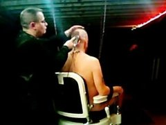 Bound in the barber chair