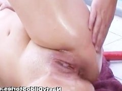 Idiot with strapon on head fucks some part4