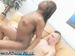 Negro GF fills her vagina with caucasian part5