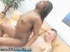 Negro GF fills her vagina with caucasian part5