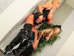 Nasty blonde whores get their horny part3