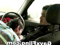 Gay Couple Oral Outdoor In Car
