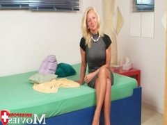 Swiss Pornmodel Claudia - Hot blonde ex-model Claudia in porn casting