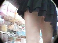 Japanese girl upskirt booth panties