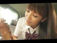 Cute Japanese Girl Public Car Blowjob