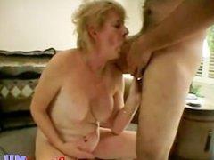 Nasty Mature Slut Gets Facial Load