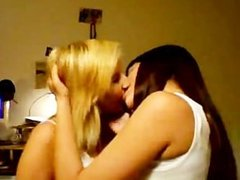 Sexy teens making out
