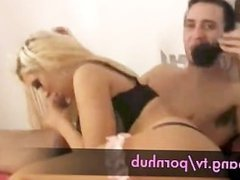 shebang.tv - Blonde slut sucks and fucks big cock