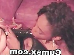 Lesbian Ebony Dildo Group Sex
