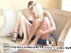 Independent Gorgeous cute lesbians playing and having fun