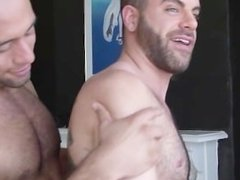 Hairy buds fuck each others muscle asses