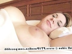 Lovely Amateur busty blonde tits playing