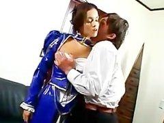 AMWF Latina Daisy Marie interracial with Asian guy