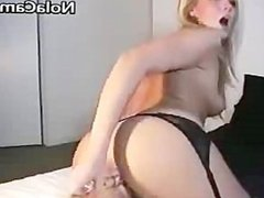 Erotic Blonde Wife Strips And Masturbates