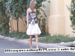 Awesome girl Desiree amateur girl masturbating outdoor