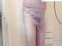 plastic pants shower