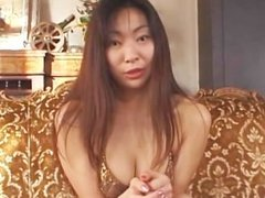 avmost.com - Huge jugg Japanese mommy pleasing her twat with a magic stick