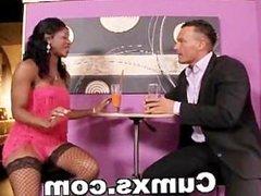 Ebony Slut Enjoying Painful Anal