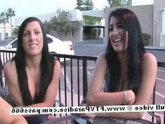 Wendy and Devaun stunning doing lesbian kissing in public
