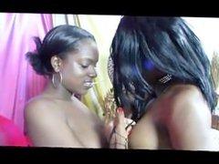Lesbian Afro Hair Pie 4 - scene 1