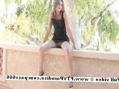 Brittni from ftv babes redhead teen babe toying pussy pussy outdoor