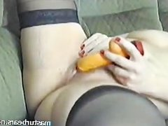 Couch masturbation 48 years Manon from France