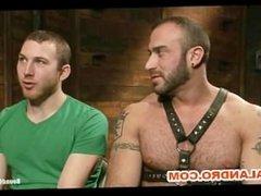 BDSM Gay Slave Suspensed and 69 Sucking