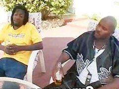 Ghetto Afro Black Slut Fucked In Hairy Cunt