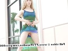 Fiona from ftv babes petite blonde babe public posing