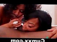 Two Hot Ghetto Sluts FFM Threesome