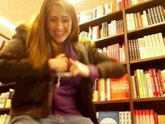 Flashing In Bookstore