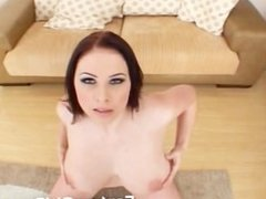Gianna Michaels pulls out her massive tits and sucks some dick