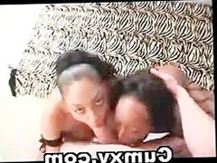 Two Busty Hot Ebony Chicks Oral And Facial