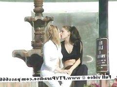 Tatiana and Samantha funny lesbians in public