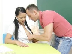 pigtailed student fuck