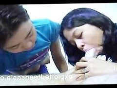 Filipino Teen Lesbians Go At It Then Joined For Threesome
