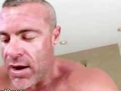 Mature gay masseur assfucked by straight dude
